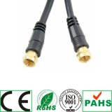 Coaxiale Cable Black& White F Plug aan F Plug Rg59u Coaxial Cable (SY098)