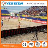 Schermo di visualizzazione del LED dello stadio di perimetro di sport di colore completo di P4 P5 P6