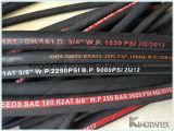 Aceite de goma flexible de la manguera hidráulica industrial SAE100 R2a