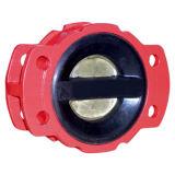 De dubbele Plaat rubber-Met een laag bedekte Klep van de Controle ANSI150