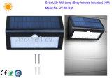 삼각형 모양 정원을%s 센서를 가진 태양 벽 램프 4W