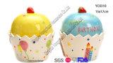 Tarro de galleta de cerámica Shaped del huevo para Pascua