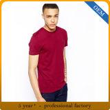 Gli uomini 100% del cotone di disegno Plain la maglietta rossa
