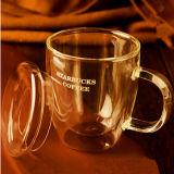 Чашка стекла стены двойника боросиликата кружки стекла пива высокая