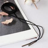 Halsband van de Nauwsluitende halsketting van het Leer DIY van vrouwen de Elegante Punk Lange Zwarte met Goud/Zilver Geplateerde Buis 164cm (65in)