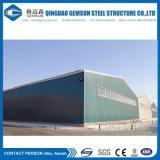 Il magazzino prefabbricato della struttura d'acciaio di configurazione rapida con rotola in su il portello