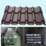 Hoja de acero prepintada acanalada revestida del material para techos del color de PPGI PPGL