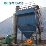 セメントの製造所の吸塵装置のバッグフィルタ