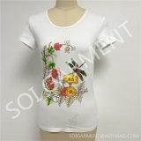 Camicia dimagrita della stampa delle nuove donne di disegno con la perforazione calda (SOI-T1704)