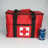Grand sac plus frais isolé par polyester fait sur commande de la capacité 600d