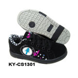 China Fashion Child Casual Skate Shoes PU Leather Rb Sole