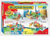 El juguete fijado los trenes de la pista bloquea juegos