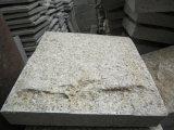 Pietra per lastricati del granito giallo dorato G682, Cobblestone di pietra giallo, lastricati del diaspro del miele & mattonelle, pavimentazione del granito