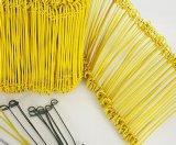 Fil de relation étroite de boucle/fil enduit galvanisé de PVC de fil de fer