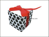 Papel impresso Note Cube with Pen Hole and Ribbon