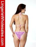 Ladies sexy Pink Swimwear Pretty in Heart Pattern String Bikini