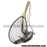 Сеть посадки форели рыболовства мухы руки узелка верхнего качества деревянная