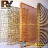 装飾的なガラスによって薄板にされる金属線の網
