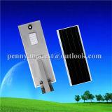 Indicatore luminoso di via solare del sistema automatico LED con il sensore di PIR (5W-120W)