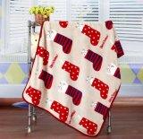 Couverture tricotée réversible de la meilleure qualité de bébé de maneton de coton