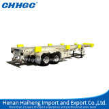3 차축 Skeletal 또는 Flatbed Transport Container Semi Trailer