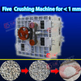 Triturador de rolo fácil de carvão quatro do casco da pedra da manutenção para a indústria de Ming