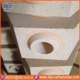 Ladrillo refractario de alta densidad de la pieza de acero fundido del flujo para el sistema que bloquea de la industria de acero