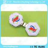Bastone di plastica del USB di esagono della parte girevole di marchio della cupola (ZYF1288)