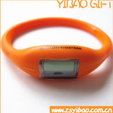 Preiswerte Slicone runde intelligente Uhr im guten Verkauf