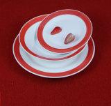 Goedkope Vlakke Ceramische Plaat, de Plaat van het Ontbijt van het Restaurant