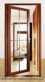 Горячим дверь Casement сбывания Toughened двойником стеклянная алюминиевая