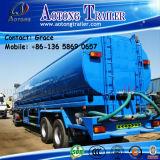 Remorques de pétrolier de Tri-Essieu, 30000-60000 litres de réservoir de carburant semi de remorque d'essence de transport de remorque de réservoir