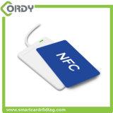 Kundenspezifischer Typ des CMYK Drucken-ISO1443A 13.56MHz - 2 ntag213 NFC Belüftung-Karte