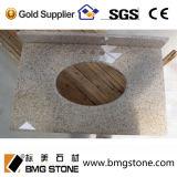 Parte superior & bancada amarelas oxidadas baratas feitas sob encomenda da vaidade do granito G682 de China