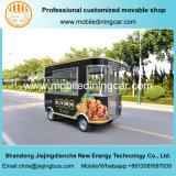 Las ventas calientes frieron el carro de los alimentos de preparación rápida de Culetmobile Elctric del pollo