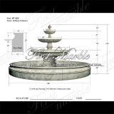Fonte de mármore Mf-664 do cálcio da antiguidade da fonte do granito da fonte da pedra da fonte