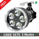 Ultra Bright CREE 5xt6 6000LM linterna LED 5 Modos de la antorcha de Zoomable LED
