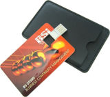 Movimentações do flash do USB da forma do cartão da cor cheia