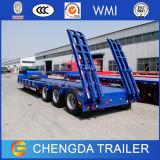 transporte da máquina escavadora 3-Axles reboques de um Lowboy de 50 toneladas para a venda