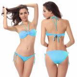 Пересекающаяся линия Bandeau Бикини 2 женщин частей Swimsuit Beachwear сексуального беспроволочный