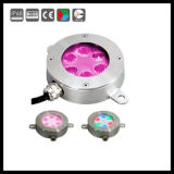 Éclairages LED sous-marins colorés de fontaine de 6W 18W
