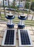 Большой фонарик светильника силы и яркости 4W солнечный СИД светлый с радиоим FM