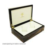 Caja portable de madera modificada para requisitos particulares de lujo del vino para el empaquetado