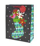 Мешки подарка рождества, мешки подарка рождества Kraft с Twisted ручкой, бумажным мешком подарка, бумажным мешком