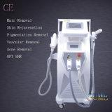 Máquina da remoção do cabelo do cuidado da face do rejuvenescimento da pele da luz de E (IPL+RF) +RF