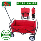 Traction se pliante de double insecte rouge le long du chariot de plage