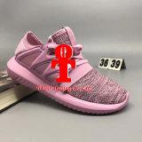 A nova tubular branca tripla Primeknit dos originais ostenta as sapatilhas radiais tubulares vermelhas do instrutor das mulheres dos homens das sapatas Running das sapatas com tamanho 5 da caixa--10