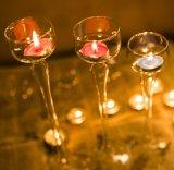 키 큰 유리제 촛대, 긴 줄기 촛대