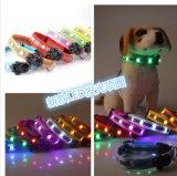 Colar de cão de nylon quente do animal de estimação do diodo emissor de luz 2016