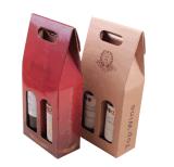 Boîte de papier à vin rouge/vente en gros de papier Jd-Pb030 de prix bas de boîte à vin